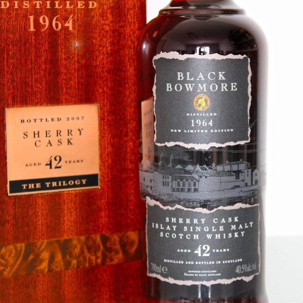 Black Bowmore 1964 42 Years Old front label