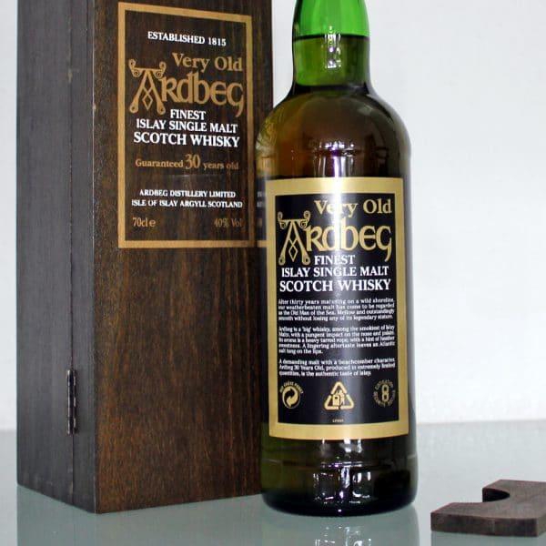 Ardbeg 30 Years Old back label