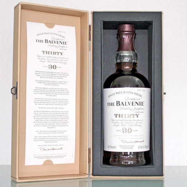 Balvenie 30 Years Old box