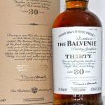 Balvenie 30 Years Old label