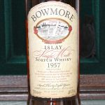 Bowmore 1957 38 Years Old label