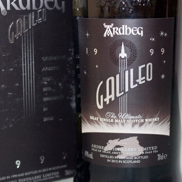 Ardbeg Galileo 1999 label