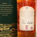 Bowmore 1968 32 Years Old back label