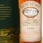 Bowmore 1968 32 Years Old label