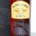 Bowmore 30 Years Old Sea Dragon Kranna Dubh front label