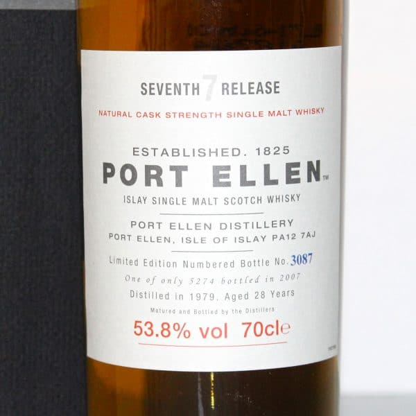 Port Ellen 1979 28 Years Old 7th release label