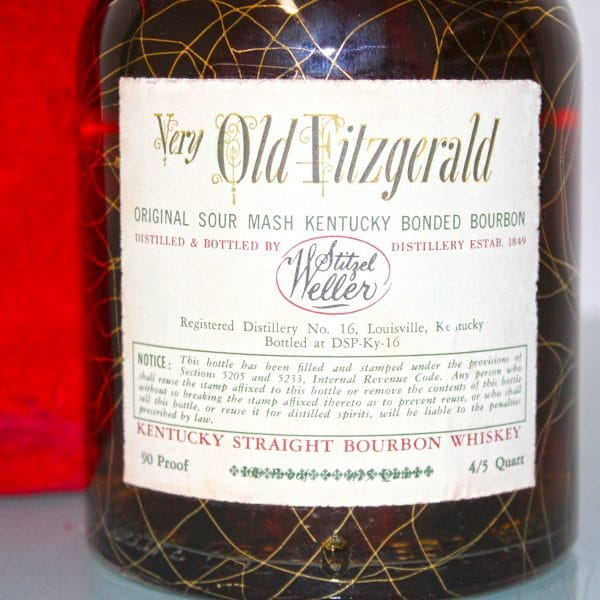 Very Xtra Old Fitzgerald 1956 10 Years Old back label